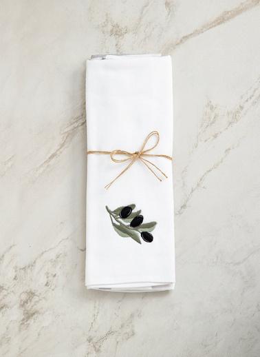 Chakra Zeytin Mutfak Havlusu 2 Li Beyaz - 40X60 Beyaz